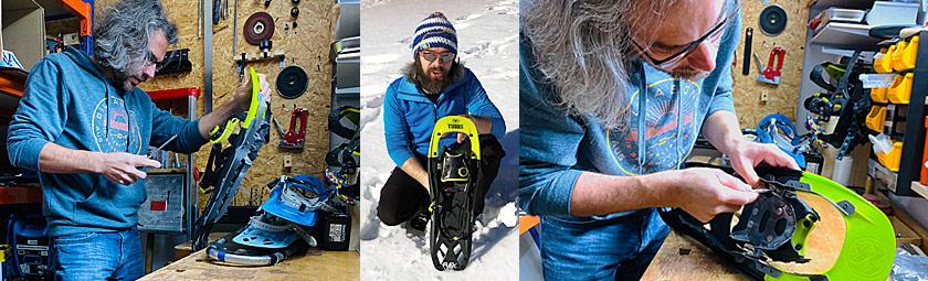 Schneeschuh Reparatur und Ersatzteile