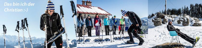 Christian hat mehr als 15 Jahre Erfahrung im Schneeschuh Bereich